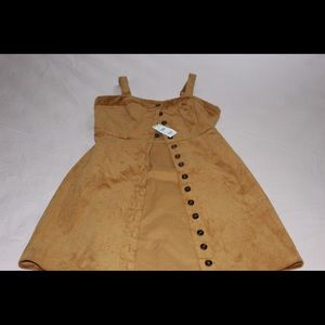 Tilly's corduroy button up adjustable dress